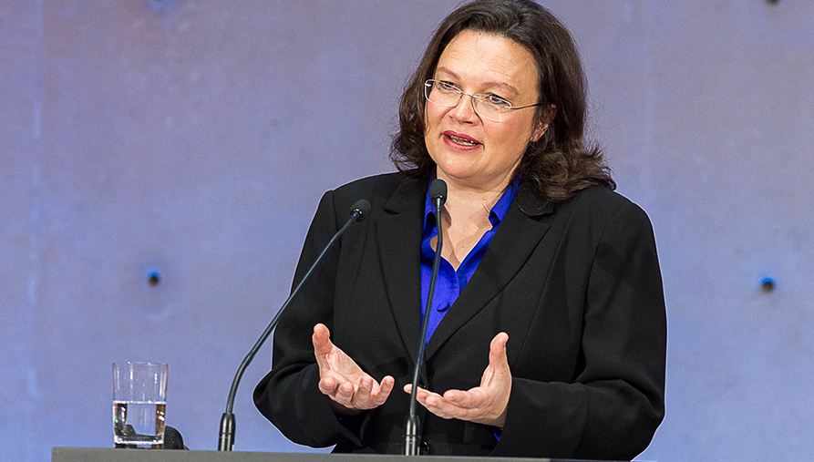 Andrea Nahles, Federal Minister for Labour and Social Affairs
