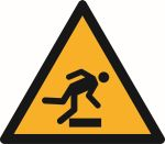 Warning sign: Floor-level obstacle warning